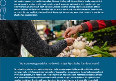 Factsheet Informatie voor gemeenten over de generieke module Ernstige Psychische Aandoeningen