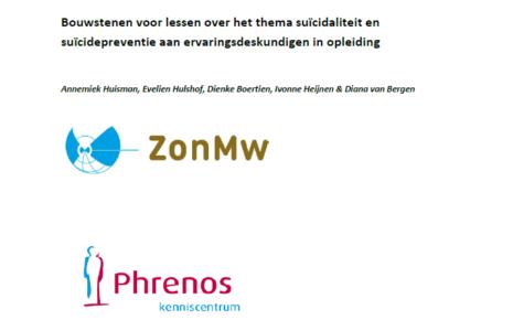 Bouwstenen voor lessen over het thema suïcidaliteit en suïcidepreventie aan ervaringsdeskundigen in opleiding