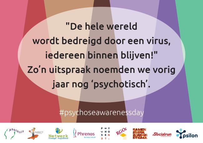 Psychose Awareness Day Quotekaart Virus